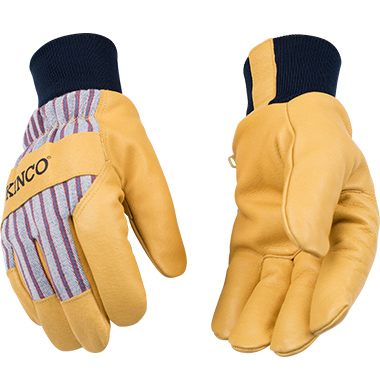 Kinco 1927KW Lined Pigskin Gloves with Knit Wrist